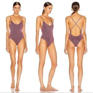 Caroline Constas Delfina One Piece Mauve Swimsuit